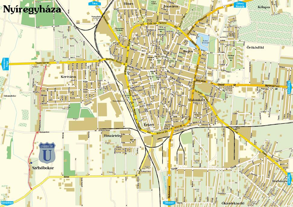 nyíregyháza térkép Térkép nyíregyháza térkép